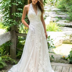 Lillian West Wedding Dress Style 66017 Front View