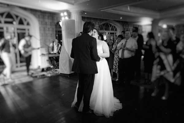 Claire ad Denis Real Wedding in the Step House First Dance