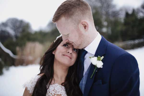Stacey and Shane Real Wedding In Ballybeg House Intimate Moment